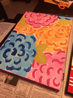Flowers ready for a Quote, Monogram, or Bible Verse! 365 Days of Serendipity Painted Canvas