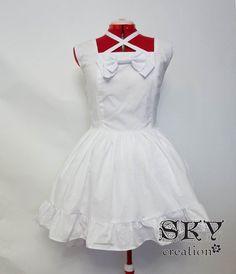Lolitas White Jumper Dress with Descending Hem by skycreation, $60.00