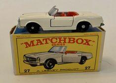 Matchbox Lesney Mercedes Benz 230SL Convertible 27 d1 cream SC2 VNM Original Box #Matchbox #MercedesBenz