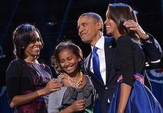 Michelle Obama at 50: November 6, 2012: President Barack Obama accompanied by First