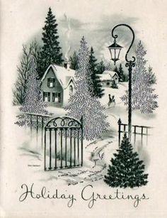 Vintage Christmas Card by katheryn