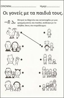 mikapanteleon-PawakomastoNhpiagwgeio: Η οικογένεια στο Νηπιαγωγείο (3) Body Preschool, Preschool Math, Kindergarten, Mothers Day Crafts For Kids, Pre School, Special Education, My Family, Worksheets, Teacher
