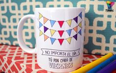 Taza blanca 11 Oz sublimada.  #Tazas #Tazas personalizadas #TazasSublimadas #Sublimacion Breakfast In America, Ideas Aniversario, Sharpie Projects, Cartoon Paper, Hand Painted Ceramics, Painted Porcelain, Coffee Is Life, Cup Design, Ceramic Painting