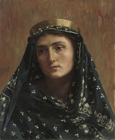 john collier, painter | john collier portrait of a lady in eastern dress john