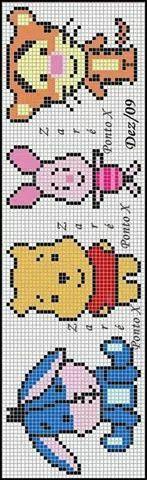 Baby Eeyore, Pooh, Piglet, Tigger