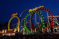 Olympia Looping Achterbahn auf der Cranger Kirmes http://www.ausflugsziele-nrw.net/cranger-kirmes/ #CrangerKirmes #Crange #Herne #Achterbahn #Rollercoaster #Ruhrgebiet