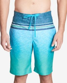 "CALVIN KLEIN MEN'S HEATHERED STRIPE 9"" BOARD SHORTS. #calvinklein #cloth #"