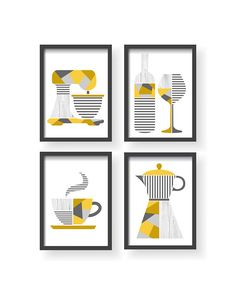 Geometric Kitchen Decor, Modern Geometric Kitchen Decor, Modern Kitchen Wall Art, Modern Kitchen decor, Yellow Gray Modern Minimalist print Every print is without frame and matte. I sell only high quality prints. Kitchen Posters, Kitchen Prints, Kitchen Wall Art, Kitchen Decals, Kitchen Drawing, Grey Home Decor, Modern Decor, Guest Room Decor, Living Room Decor