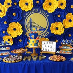 Golden State Warriors baby shower! See more party planning ideas at CatchMyParty.com!