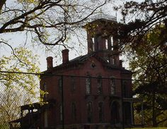 Sauer Castle, if any house looks as if it should be haunted this is it.