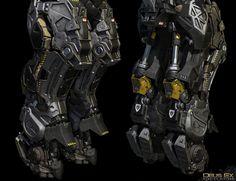 ArtStation - Deus Ex: Mankind Divided -Mechanical Ogre Game Res close ups, Frederic Daoust