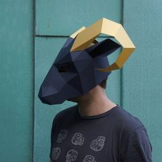Hey, I found this really awesome Etsy listing at https://www.etsy.com/il-en/listing/221314914/ram-mask-build-your-own-low-poly-mask