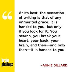 annie dillard essays teaching a stone to talk