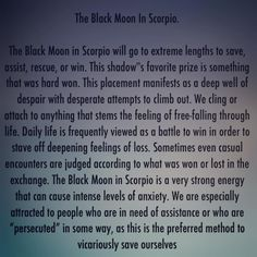 On the 21st of May 2016 The Black Moon Lilith entered Scorpio where she will reside until February 2nd 2017. So if your Lilith is in…