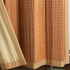 Just found the perfect window treatments!! - Blinds.com. – Woven Wood Grommet Panel #homedecor #blinds #vertical-blind-alternatives