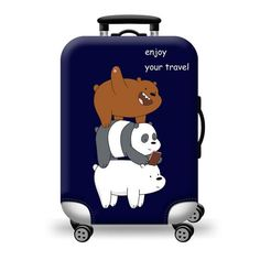 Thickened Luggage Cover Durable Cute Pattern Luggage Protector for inch Luggage (M) Cute Luggage, Luggage Case, Vintage Luggage, Luggage Sets, Cute Suitcases, Vintage Suitcases, We Bare Bears Wallpapers, We Bear, Bear Pictures
