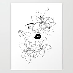 Outline Art, Line Art Tattoos, Abstract Line Art, Art Drawings Sketches, Minimalist Art, Female Face, Diy Art, Art Projects, Canvas Art