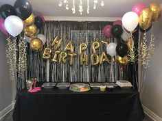 Pink Black And Gold Birthday Theme