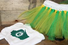 Green Bay Packer Wisconsin Football Onesie by TwotasticBoutique