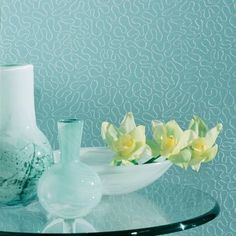 Glass Beads  Maeandra (Robin's Egg)  Specialty Wallcovering, Source One
