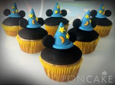 Mickey Mouse Cupcakes - Cupcakes de Mickey Mouse