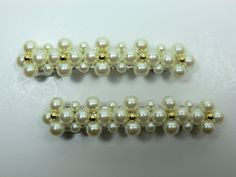 Charles J. Wahba - Pearl Beaded Side Barrettes (Paired) *** Continue to the product at the image link. #hairmake
