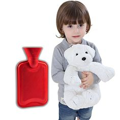 Peter Pan 075Liter Hot Water Bottle with Removable Plush Dog CoverMade with HighQuality NonAllergenic Fabric that Allows for Rapid Heat Transfer to Soothe Aches and PainsWhite ** Click for Special Deals #FirstAidKit First Aid Kit, Special Deals, Water Bottles, Heat Transfer, Stress Relief, Peter Pan, Health And Beauty, Plush, How To Remove