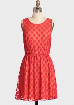 Celebration Polka Dot Dress In Red | $42.99 | ShopRuche.com | #Ruche
