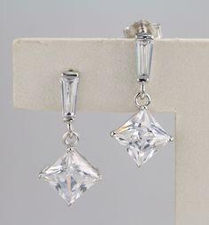 925 silver earrings, cubic zirconia stone, OEM ok, item number: BT04083