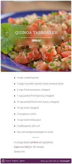 YES! Quinoa Tabbouleh recipe. A great take-along to love all summer long.