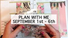 Plan With Me - Decorating the Happy Planner Sept. 1st - 6th
