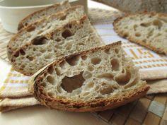 Come preparare un pane veloce con gli esuberi di pasta madre. Una ricetta veloce e pratica per smaltire gli eccessi di lievito madre e con lievitazione piuttosto breve, in giornata. Un pane buonissimo!