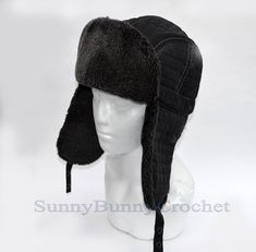 1cae581c 7 Best Men Ushanka Rabbit Fur hats images in 2018 | Aviator hat ...