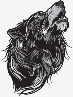 Portfolio - mcmlxxiv wolves wolf tattoos, animal tattoos et art dra Wolf Tattoos, Animal Tattoos, Body Art Tattoos, Wolf Illustration, Graphic Illustration, Illustrations, Tattoo Avant Bras, Geniale Tattoos, Grafik Design