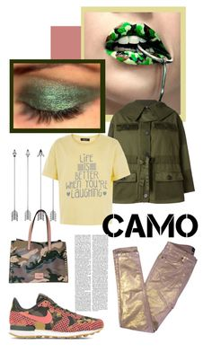 """Pretty Camo"" by felicia-mcdonnell ❤ liked on Polyvore featuring Zadig & Voltaire, Alexander McQueen, New Look, NIKE, AlexanderMcQueen, valentino, nike and newlook"