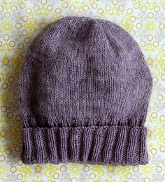 """Simple Pleasures Hat,"" a free pattern from the purl bee; a great way to use Shibui Silk Cloud and Cima together."