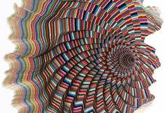 Hypnotic Paper Sculptures by Jen Stark