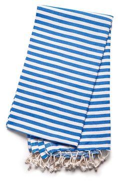 The Cabana - Nautical Blue — Pamuk & Co. Turkish Towels, Cabana, Envy, Nautical, Porch, Cotton, How To Make, Handmade, Blue