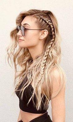 New Braided Hairstyles, Box Braids Hairstyles, Straight Hairstyles, Slick Hairstyles, Hairstyle Ideas, Style Hairstyle, Pretty Hairstyles, Different Braid Hairstyles, Indian Hairstyles