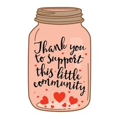 Thank you to support this little community