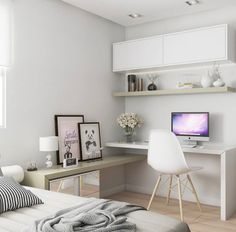 Trendy home office quarto feminino simples Ideas