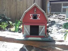 Barn birdhouse made with driftwood