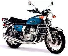 1976 Suzuki GT750A Motorcycle.