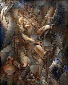 L Oiseau Bleu   by Jean Metzinger Giclee Canvas Print Repro