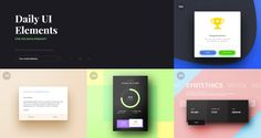 100 Days of UI is a challenge and a collection of UI elements created by designer Paul Flavius Nechita.
