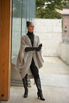 Knitwear, leather and fur fashion