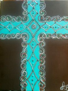 cross on Canvas-sign has sold, no longer in etsy. Crosses Decor, Wall Crosses, Painted Crosses, Canvas Signs, Canvas Art, Cross Wall Art, Clay Cross, Glue Art, Sign Of The Cross