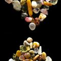time Sand grains under the microscope microscopic sand photography art photo microscopy artwork