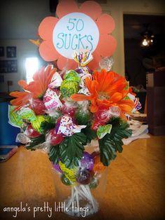 '50 SUCKS' Bouquet Gift {Tutorial}