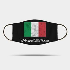 Andrà tutto bene Mask by Scar Design. Also available for Adults #andratuttobene #italianflag #Italy #Italian #mask #coronavirus #covid19 #kidsmask #virus #masks #virusmask #clothmask #fabricmask #facemask All Things Cute, Family Gifts, Mask For Kids, Xmas Gifts, Masks, Great Gifts, Italy, Personalized Items, Design